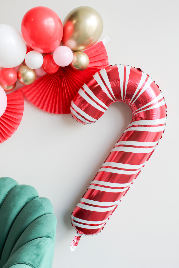 Candy Cane Balloon Garland from a Candy Cane Soiree on Kara's Party Ideas | KarasPartyIdeas.com (9)
