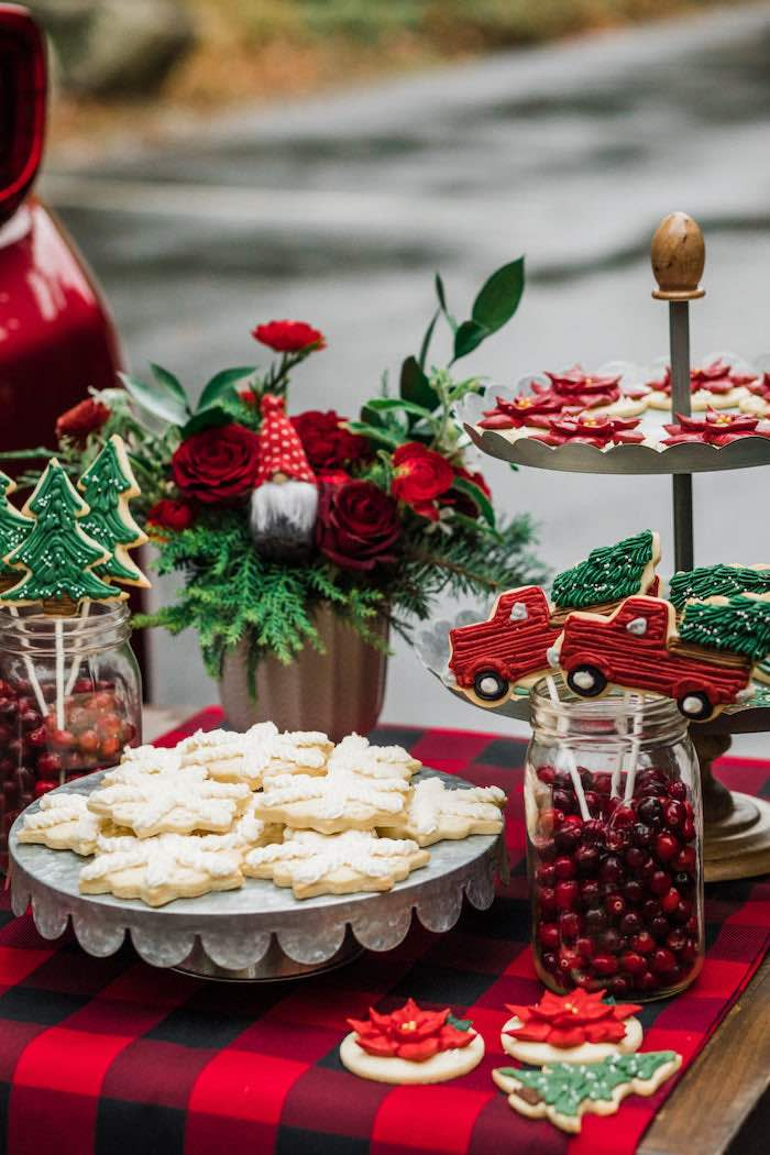 Christmas Sweet Table from a Classic Christmas Tailgate Party on Kara's Party Ideas | KarasPartyIdeas.com (33)