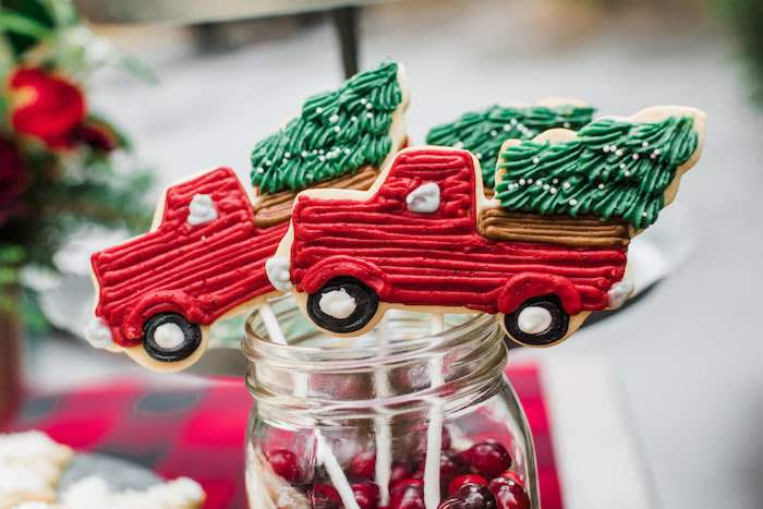 Christmas Cookies from a Classic Christmas Tailgate Party on Kara's Party Ideas | KarasPartyIdeas.com (29)