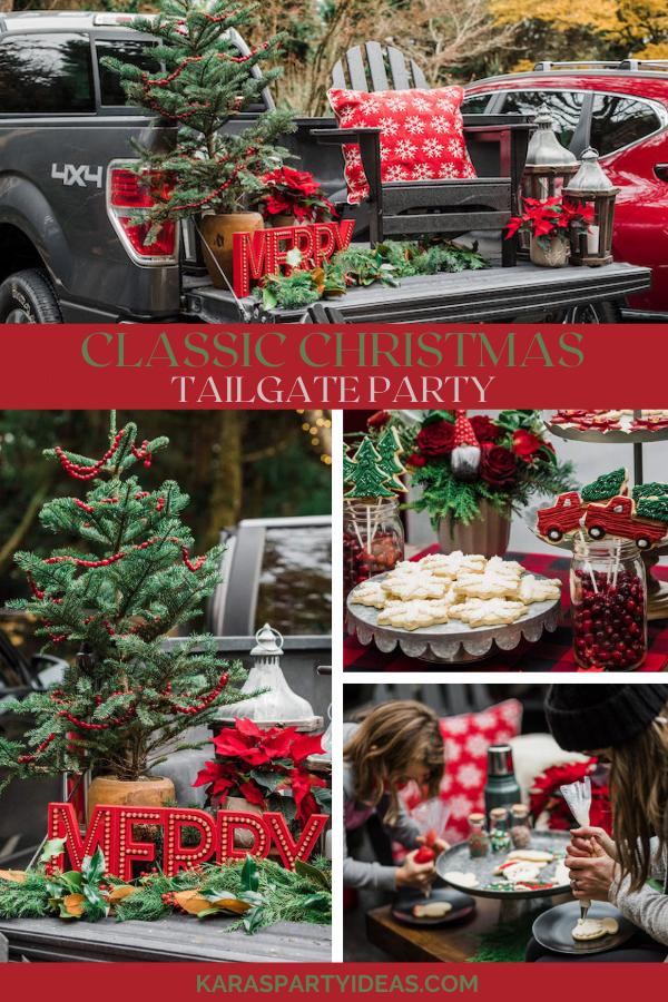 Classic Christmas Tailgate Party via Kara's Party Ideas - KarasPartyIdeas.com