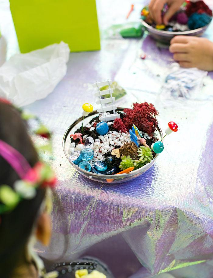 Fairy Garden Craft from an Enchanted Fairy Garden Birthday Party on Kara's Party Ideas | KarasPartyIdeas.com (32)