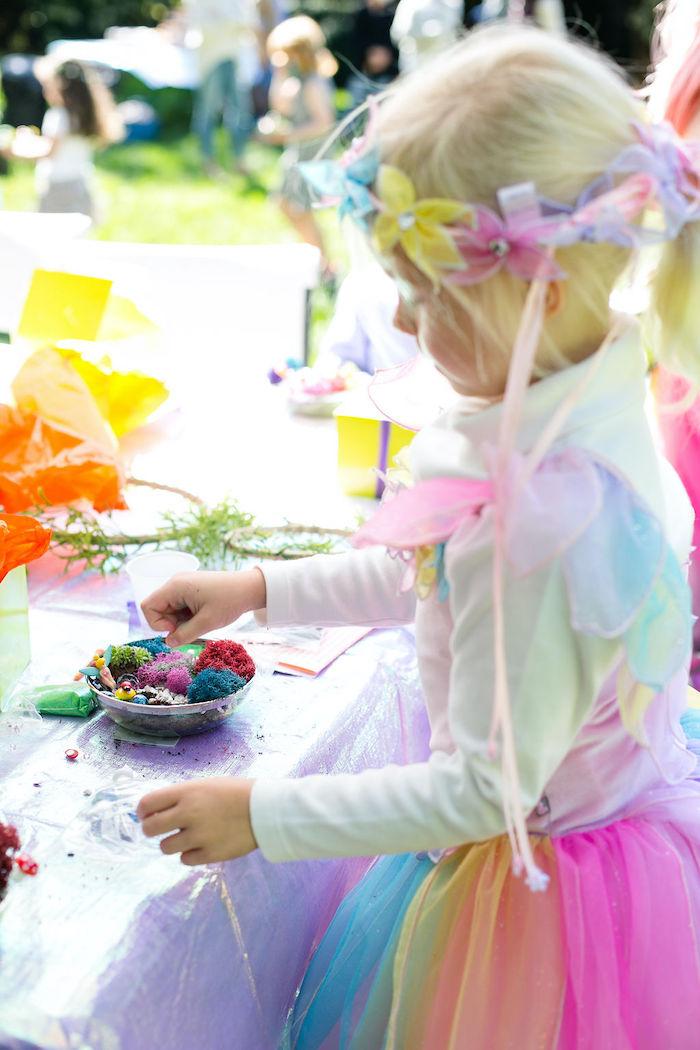 Fairy Garden Craft from an Enchanted Fairy Garden Birthday Party on Kara's Party Ideas | KarasPartyIdeas.com (31)