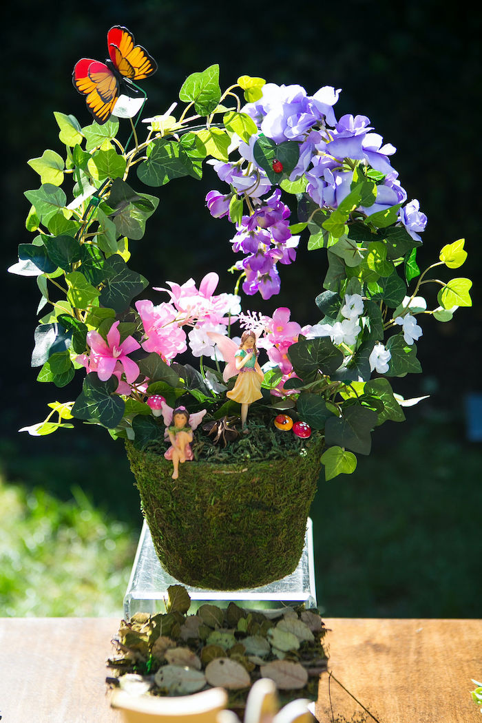 Fairy Garden Plant from an Enchanted Fairy Garden Birthday Party on Kara's Party Ideas | KarasPartyIdeas.com (28)