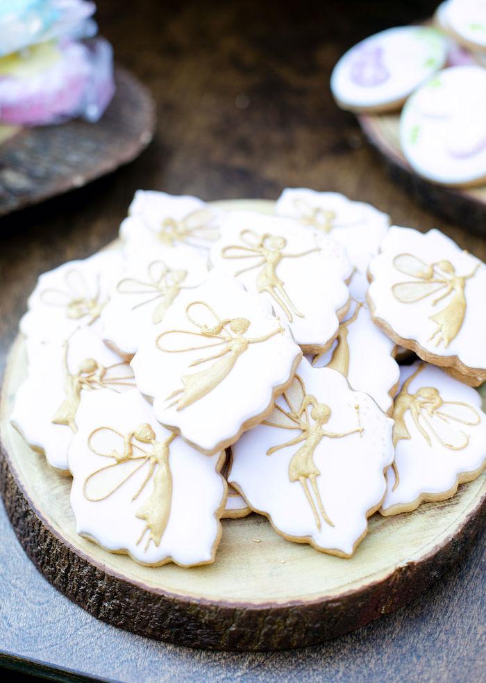 Fairy Cookies from an Enchanted Fairy Garden Birthday Party on Kara's Party Ideas | KarasPartyIdeas.com (25)