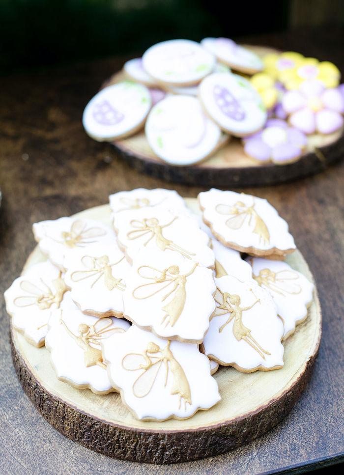 Fairy Cookies from an Enchanted Fairy Garden Birthday Party on Kara's Party Ideas | KarasPartyIdeas.com (24)