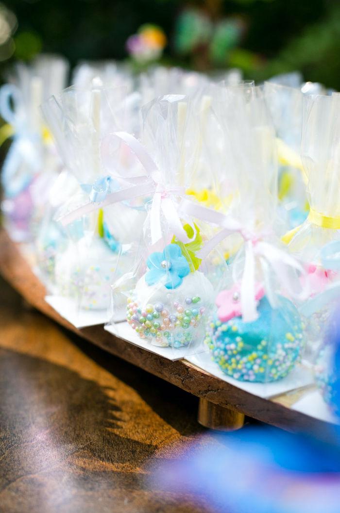 Fairy Flower Cake Pops from an Enchanted Fairy Garden Birthday Party on Kara's Party Ideas | KarasPartyIdeas.com (22)