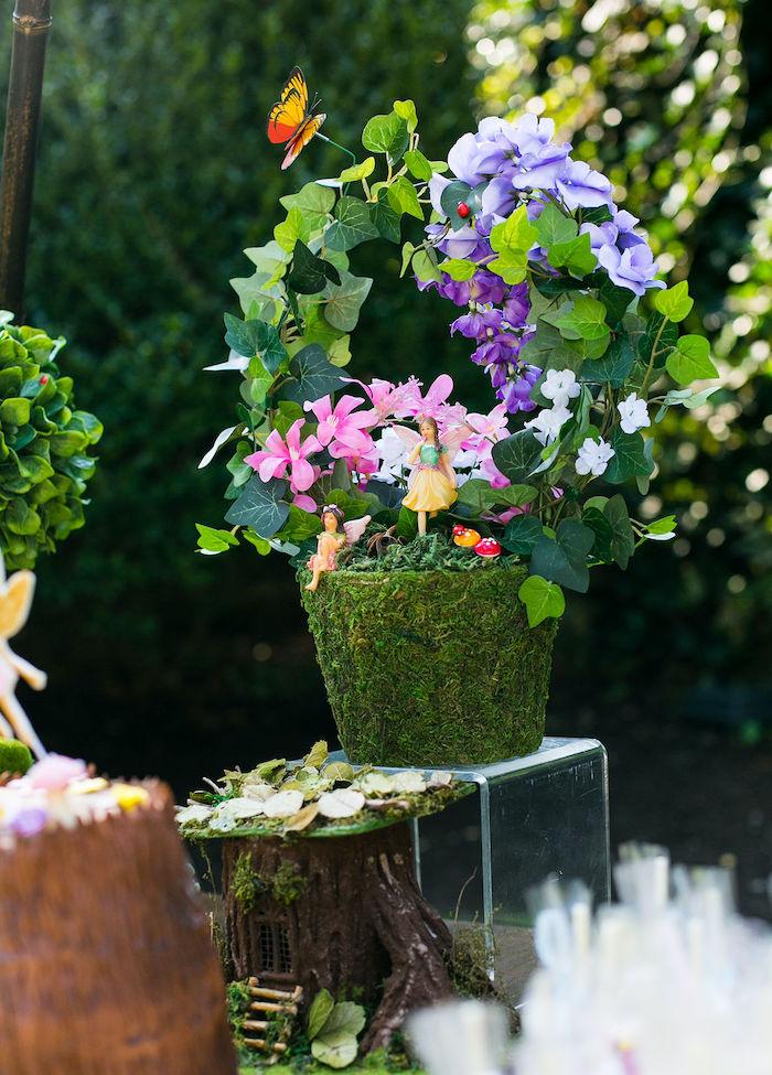 Fairy Garden Plant from an Enchanted Fairy Garden Birthday Party on Kara's Party Ideas | KarasPartyIdeas.com (20)