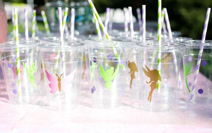 Fairy Cups from an Enchanted Fairy Garden Birthday Party on Kara's Party Ideas | KarasPartyIdeas.com (41)