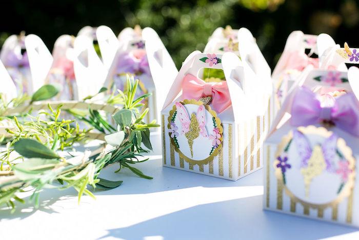 Fairy Themed Favor Boxes from an Enchanted Fairy Garden Birthday Party on Kara's Party Ideas | KarasPartyIdeas.com (40)