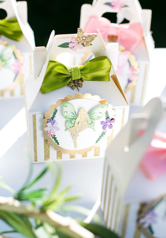 Fairy Themed Favor Boxes from an Enchanted Fairy Garden Birthday Party on Kara's Party Ideas | KarasPartyIdeas.com (39)