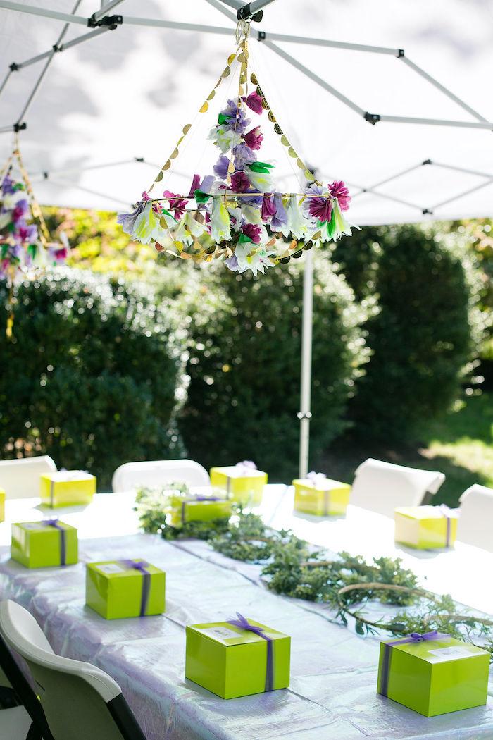 Fairy Garden Craft Table from an Enchanted Fairy Garden Birthday Party on Kara's Party Ideas | KarasPartyIdeas.com (37)