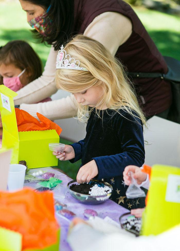 Fairy Garden Craft from an Enchanted Fairy Garden Birthday Party on Kara's Party Ideas | KarasPartyIdeas.com (36)
