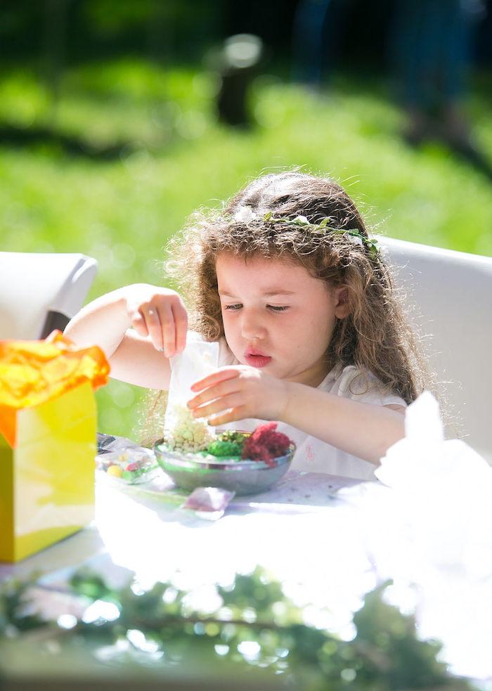 Fairy Garden Craft from an Enchanted Fairy Garden Birthday Party on Kara's Party Ideas | KarasPartyIdeas.com (35)