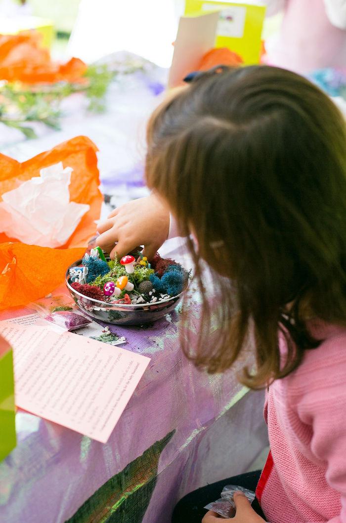 Fairy Garden Craft from an Enchanted Fairy Garden Birthday Party on Kara's Party Ideas | KarasPartyIdeas.com (34)