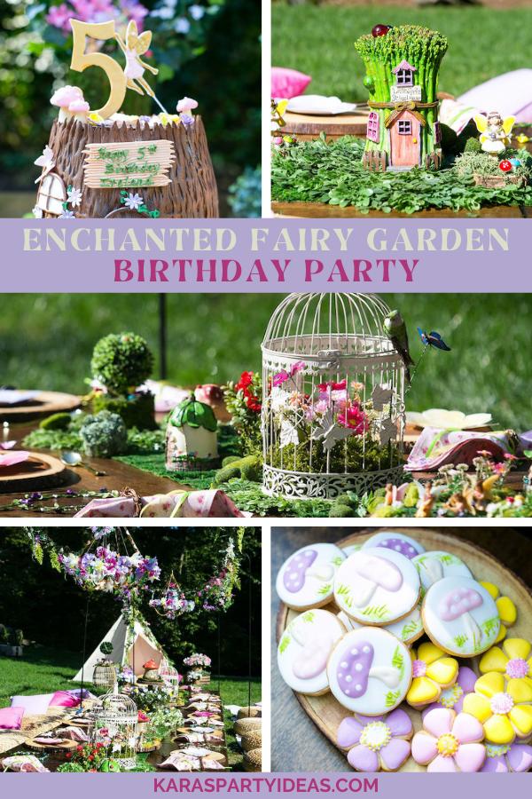 Enchanted Fairy Garden Birthday Party via Kara's Party Ideas - KarasPartyIdeas.com