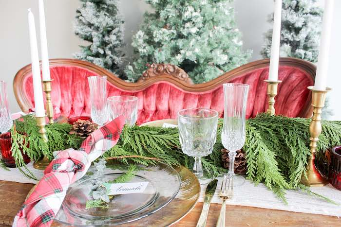 Luxe Christmas Tabletop + Table Setting from a Luxe Christmas Tabletop from a Luxe Christmas Dinner on Kara's Party Ideas | KarasPartyIdeas.com (8)