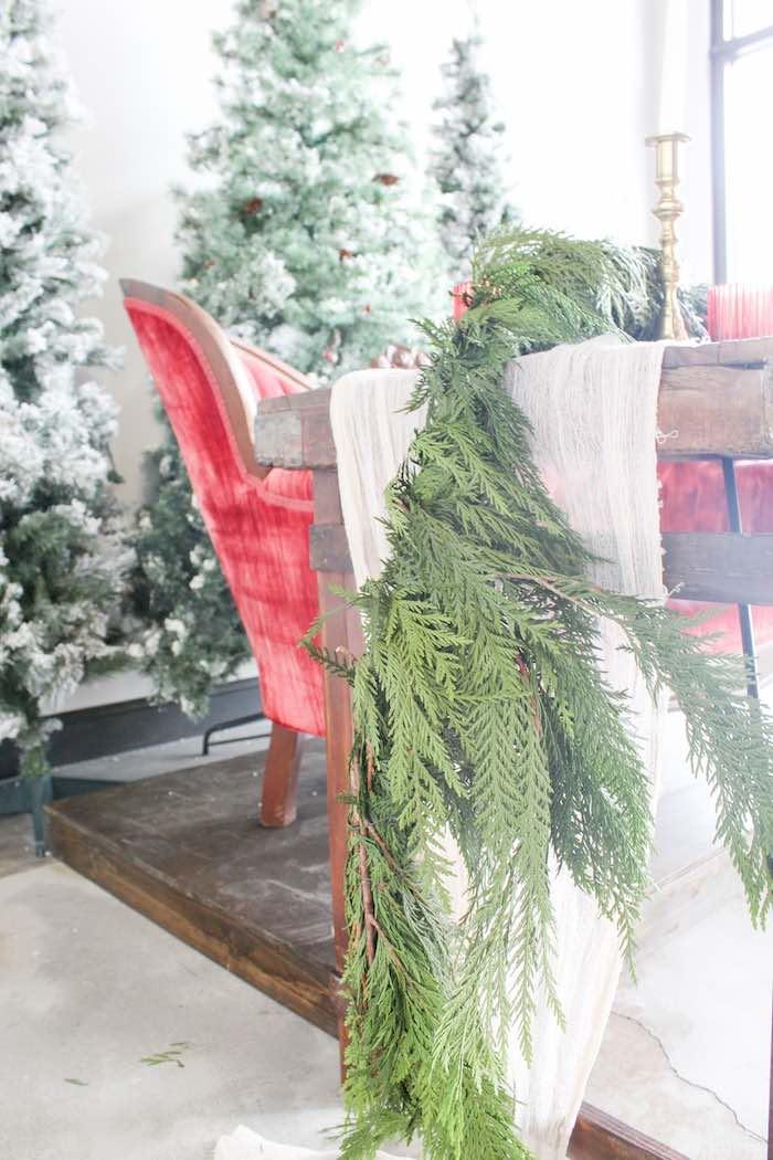 Fresh Pine Garland from a Luxe Christmas Dinner on Kara's Party Ideas | KarasPartyIdeas.com (4)