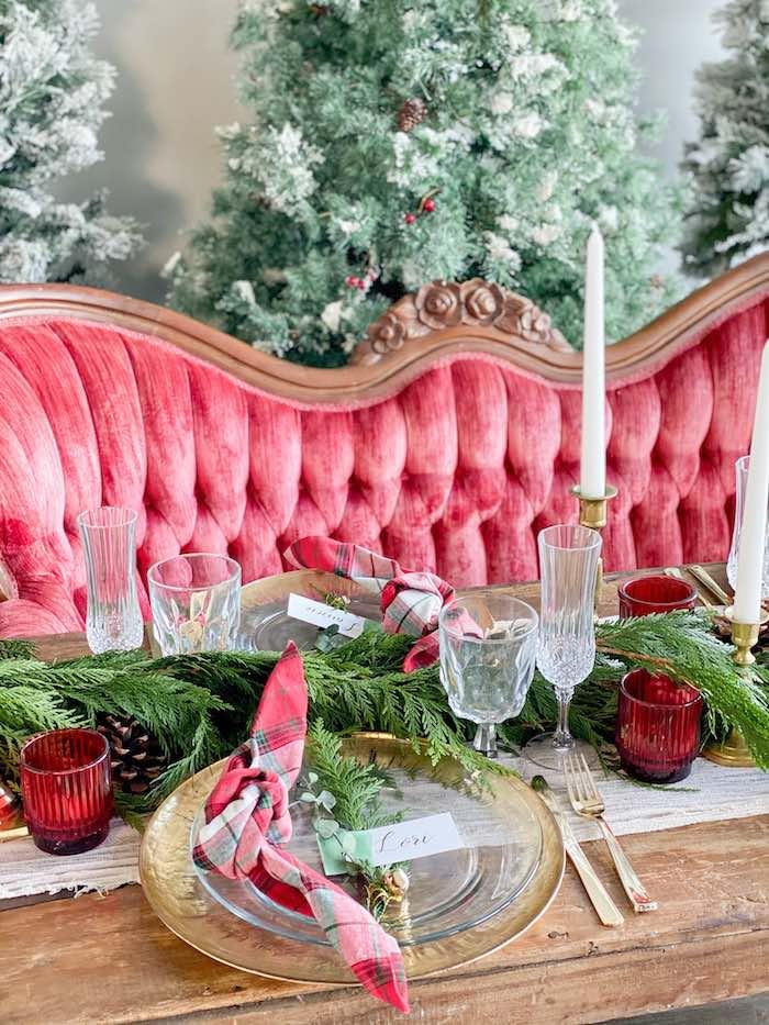 Luxe Christmas Table Setting from a Luxe Christmas Dinner on Kara's Party Ideas | KarasPartyIdeas.com (20)