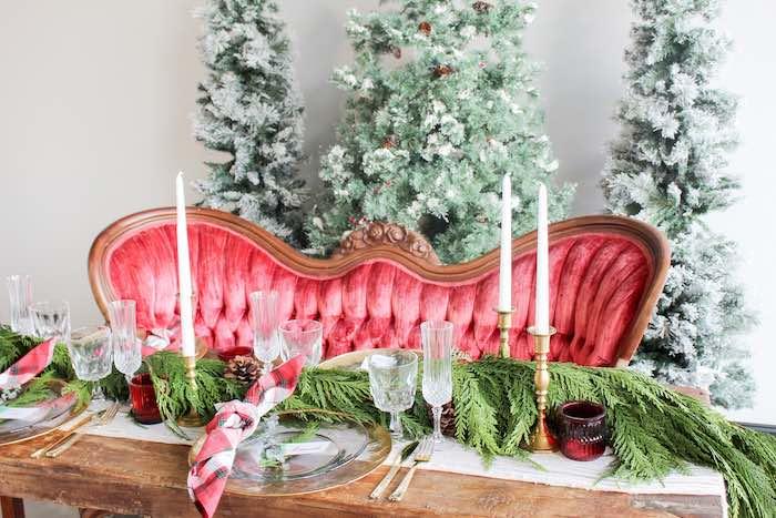 Luxe Christmas Dinner Table from a Luxe Christmas Dinner on Kara's Party Ideas | KarasPartyIdeas.com (13)