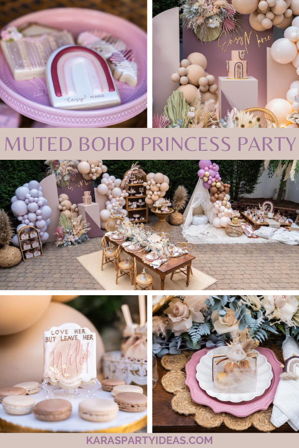 Muted Boho Princess Party via Kara's Party Ideas - KarasPartyIdeas.com (1)