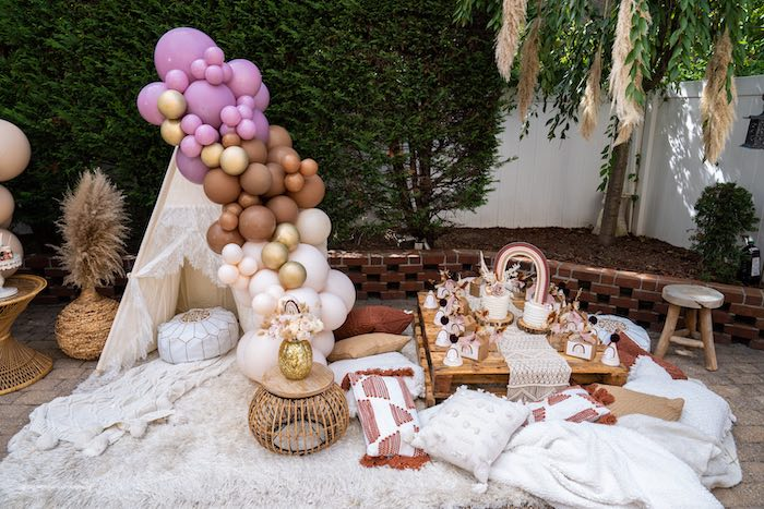 Muted Boho Princess Party on Kara's Party Ideas | KarasPartyIdeas.com (25)