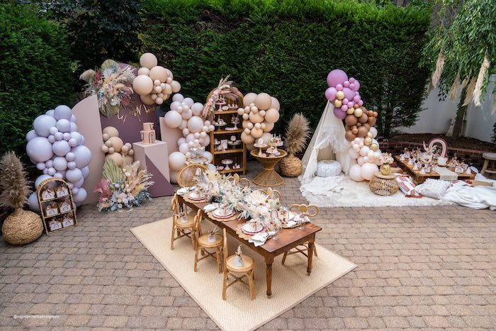 Muted Boho Princess Party on Kara's Party Ideas | KarasPartyIdeas.com (30)