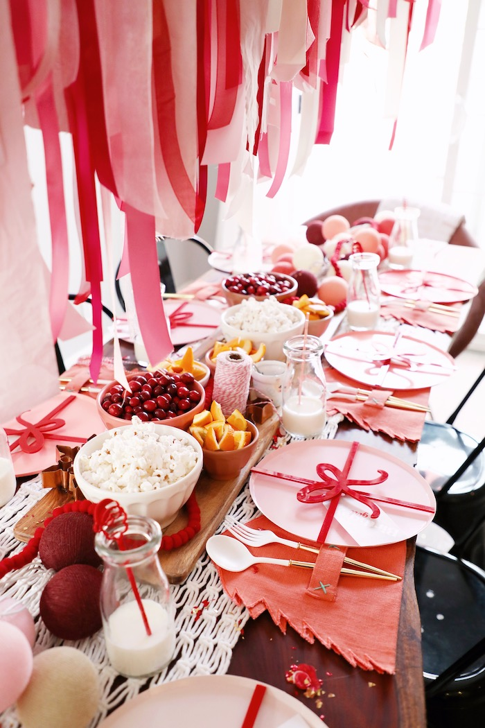 Naughty & Nice Guest Table from a Naughty & Nice Christmas Inspired Birthday Party on Kara's Party Ideas | KarasPartyIdeas.com (40)