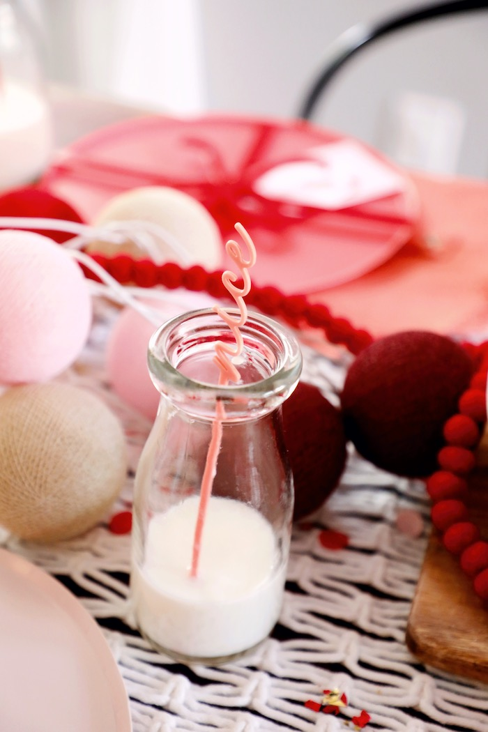 Nice Milk Bottle Stir Stick from a Naughty & Nice Christmas Inspired Birthday Party on Kara's Party Ideas | KarasPartyIdeas.com (36)
