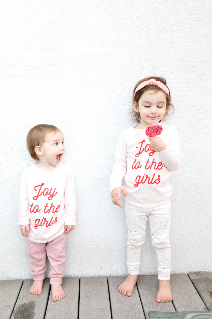 Joy to the girls Shirts from a Naughty & Nice Christmas Inspired Birthday Party on Kara's Party Ideas | KarasPartyIdeas.com (34)