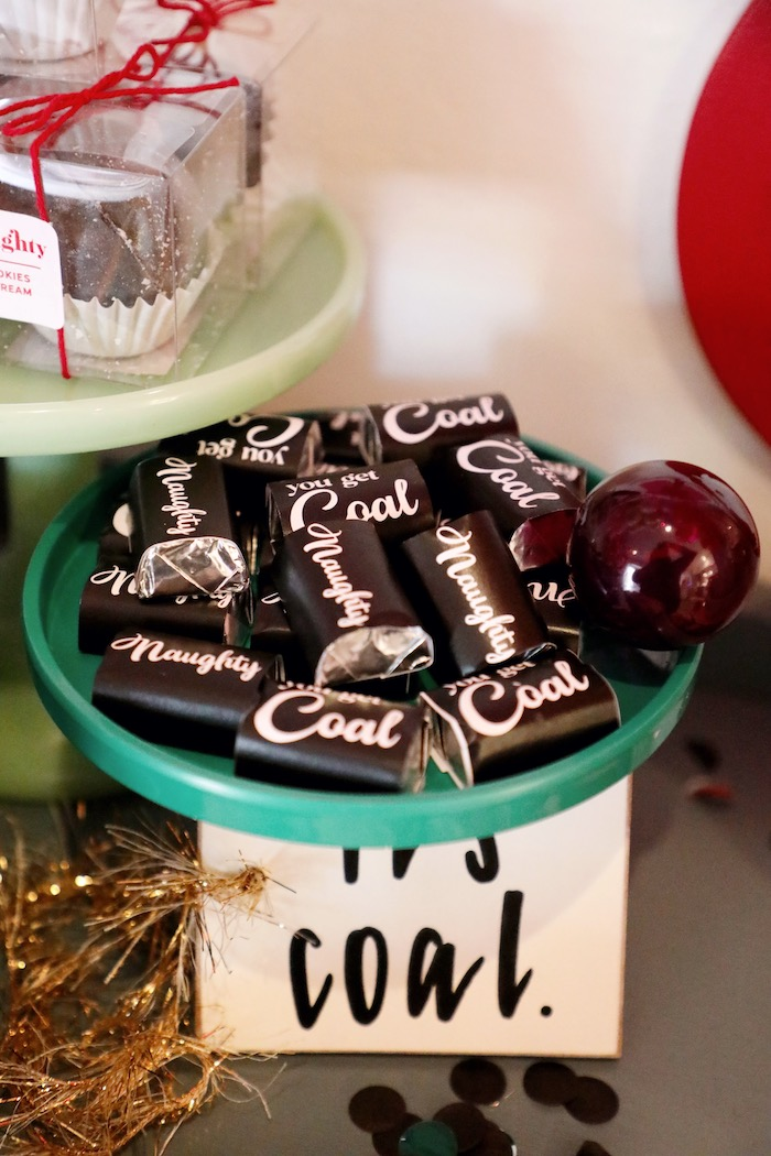 Coal Candy from a Naughty & Nice Christmas Inspired Birthday Party on Kara's Party Ideas | KarasPartyIdeas.com (33)