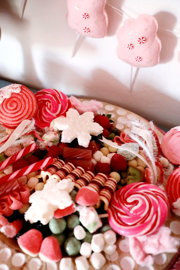 Christmas Candy Charcuterie Board from a Naughty & Nice Christmas Inspired Birthday Party on Kara's Party Ideas | KarasPartyIdeas.com (24)