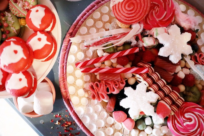 Christmas Candy Board from a Naughty & Nice Christmas Inspired Birthday Party on Kara's Party Ideas | KarasPartyIdeas.com (22)