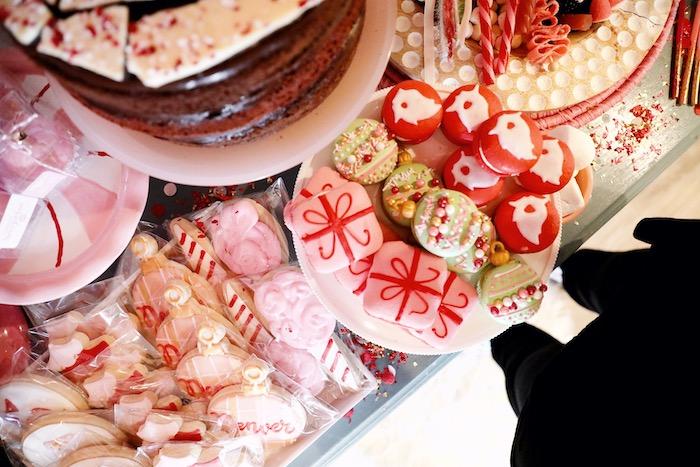 Christmas Macarons from a Naughty & Nice Christmas Inspired Birthday Party on Kara's Party Ideas | KarasPartyIdeas.com (21)