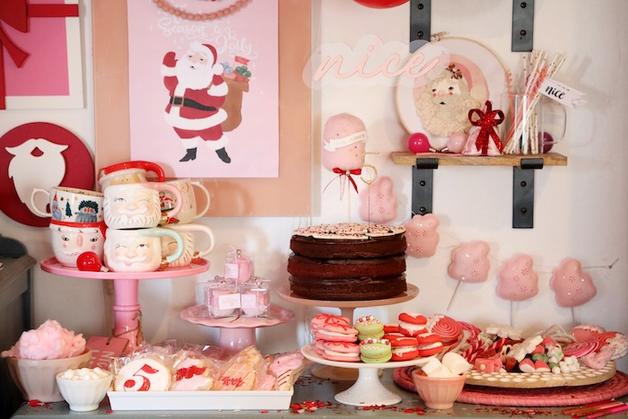 Nice List-inspired Dessert Table from a Naughty & Nice Christmas Inspired Birthday Party on Kara's Party Ideas | KarasPartyIdeas.com (20)