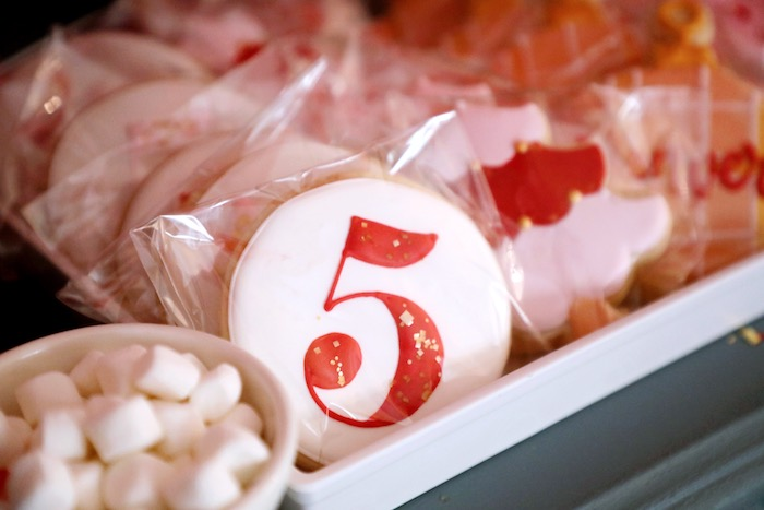 Custom 5 Cookie from a Naughty & Nice Christmas Inspired Birthday Party on Kara's Party Ideas | KarasPartyIdeas.com (17)