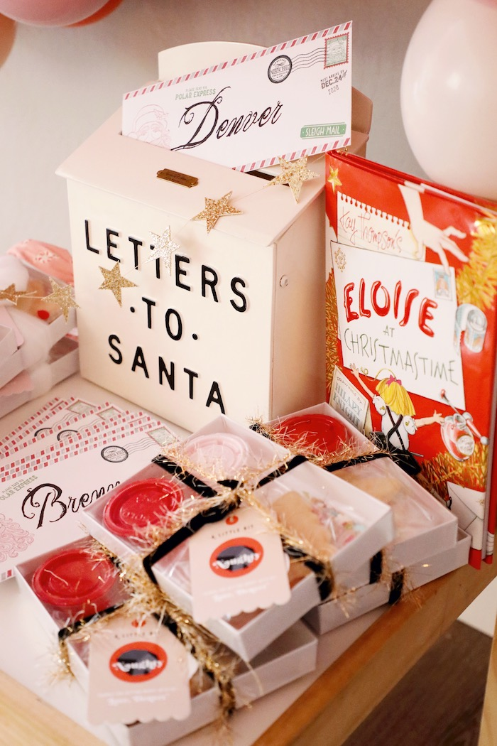 Letters to Santa Favor Table - Naughty & Nice Cookie Favor Kits from a Naughty & Nice Christmas Inspired Birthday Party on Kara's Party Ideas | KarasPartyIdeas.com (13)