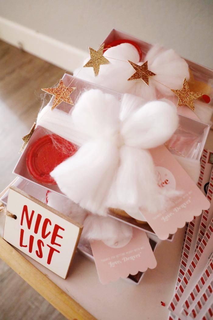 Nice List Cookie Favor Kit from a Naughty & Nice Christmas Inspired Birthday Party on Kara's Party Ideas | KarasPartyIdeas.com (11)