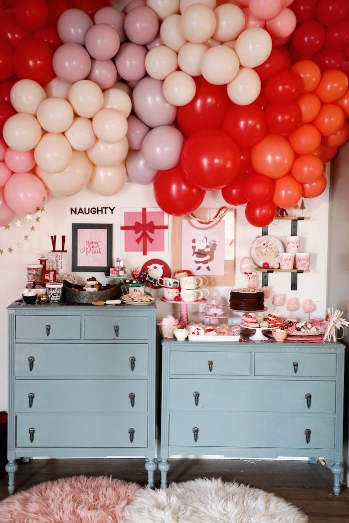 Naughty & Nice Christmas Inspired Birthday Party on Kara's Party Ideas | KarasPartyIdeas.com (3)