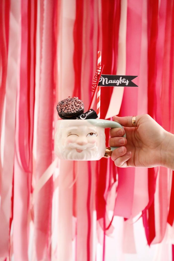 Naughty List Hot Cocoa from a Naughty & Nice Christmas Inspired Birthday Party on Kara's Party Ideas | KarasPartyIdeas.com (2)