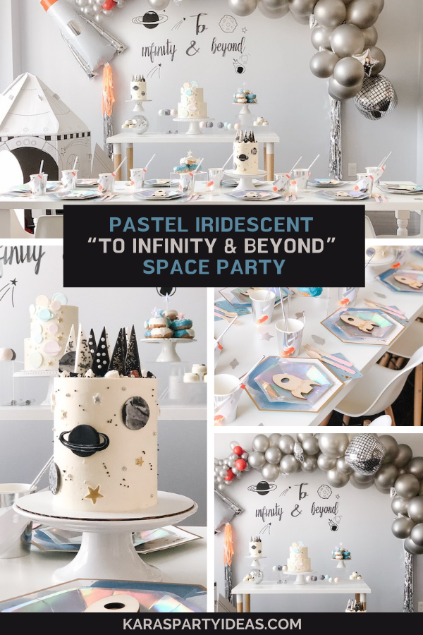 "Pastel Iridescent ""To Infinity & Beyond"" Space Party via Kara's Party Ideas - KarasPartyIdeas.com"