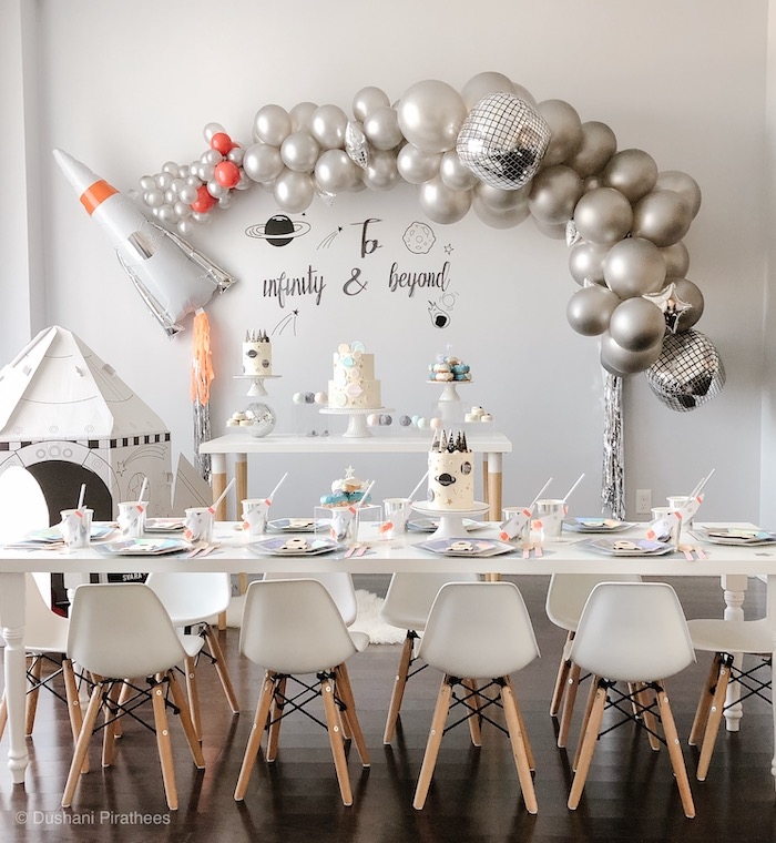 """Pastel Iridescent """"To Infinity & Beyond"""" Space Party on Kara's Party Ideas 