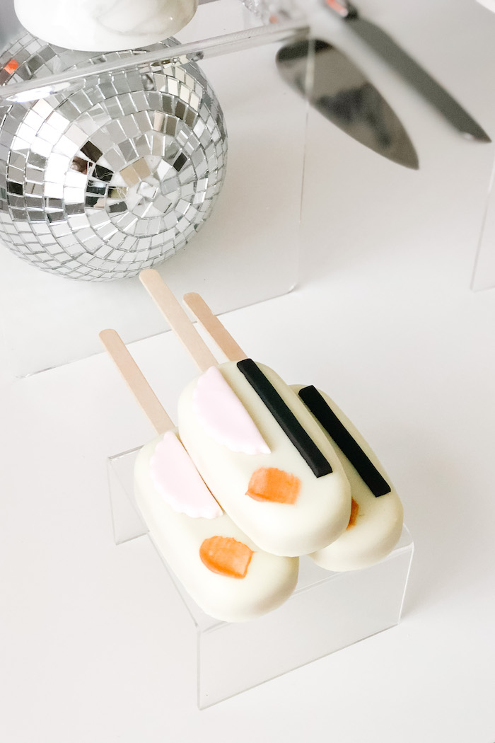 """Cakesicles from a Pastel Iridescent """"To Infinity & Beyond"""" Space Party on Kara's Party Ideas 