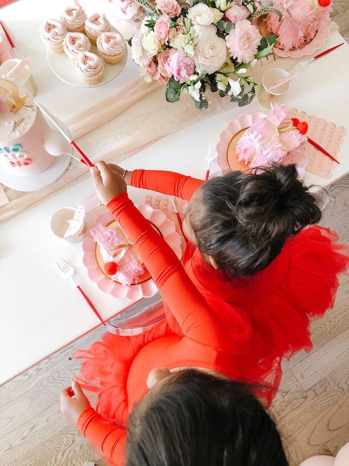 Pink Peppermint Christmas Party on Kara's Party Ideas | KarasPartyIdeas.com (10)