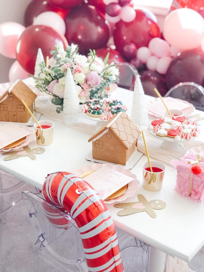 Pink Peppermint Christmas Party Table on Kara's Party Ideas | KarasPartyIdeas.com (7)