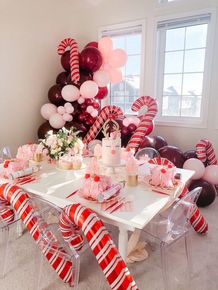 Pink Peppermint Christmas Party on Kara's Party Ideas | KarasPartyIdeas.com (20)