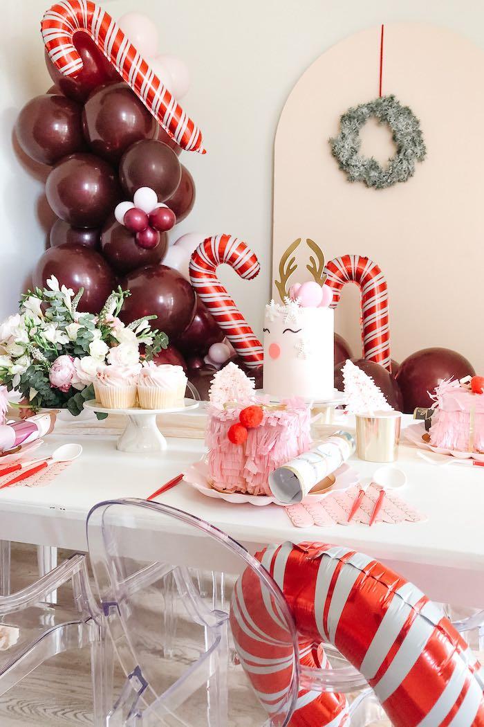 Pink Peppermint Christmas Party on Kara's Party Ideas | KarasPartyIdeas.com (16)