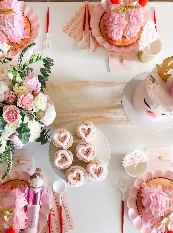 Pink & Girly Christmas Party Table on Kara's Party Ideas | KarasPartyIdeas.com (15)