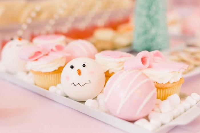 Hot Cocoa Bombs + Cupcakes from a Pink Polar Express Party on Kara's Party Ideas | KarasPartyIdeas.com (43)