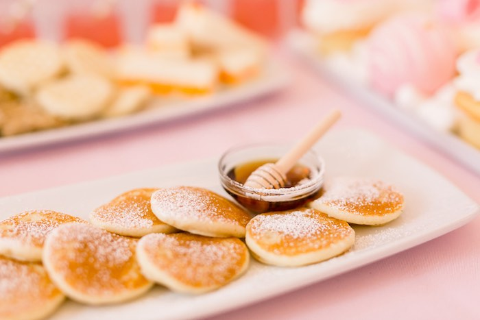Mini Pancakes with Syrup Bowl from a Pink Polar Express Party on Kara's Party Ideas | KarasPartyIdeas.com (41)