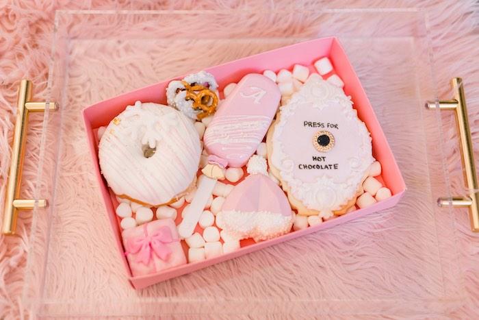 Polar Express-inspired Sweet Favor Box from a Pink Polar Express Party on Kara's Party Ideas | KarasPartyIdeas.com (53)